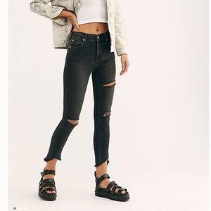 Free People mid rise skinny jeans